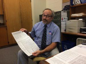 George Snyder, grade 12 teacher at Ogdensburg Free School [Photo © Rachel McLaughlin-Levy]