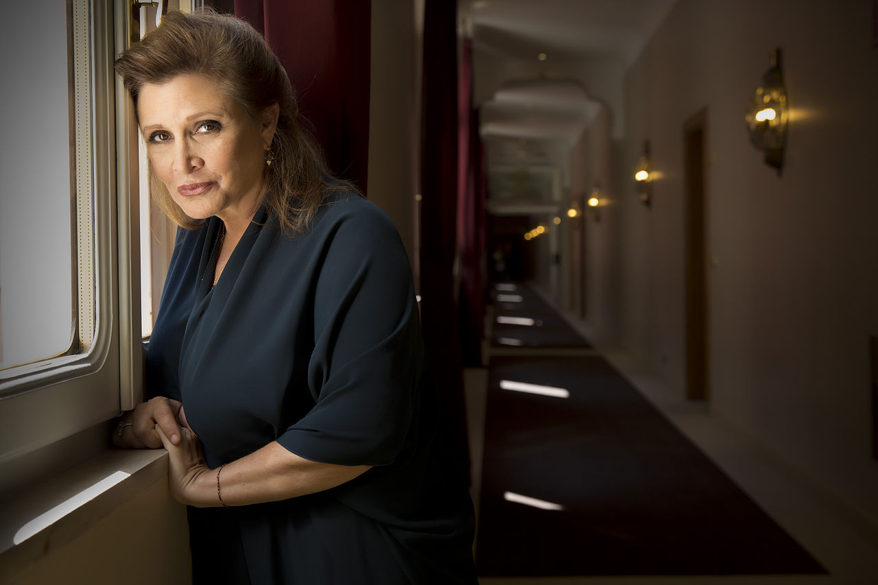Actress Carrie Fisher at the Venice International Film Festival on Sept. 3, 2013. Photo by Riccardo Ghilardi.