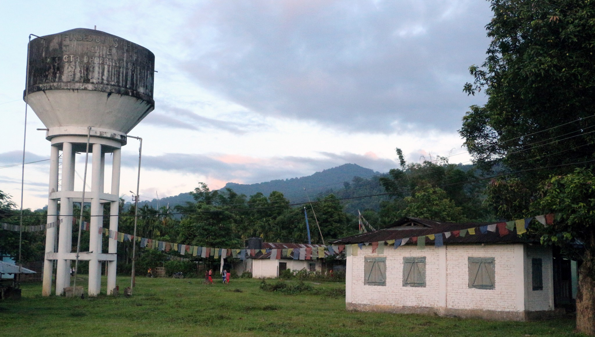 One of the water towers in Miao settlement.
